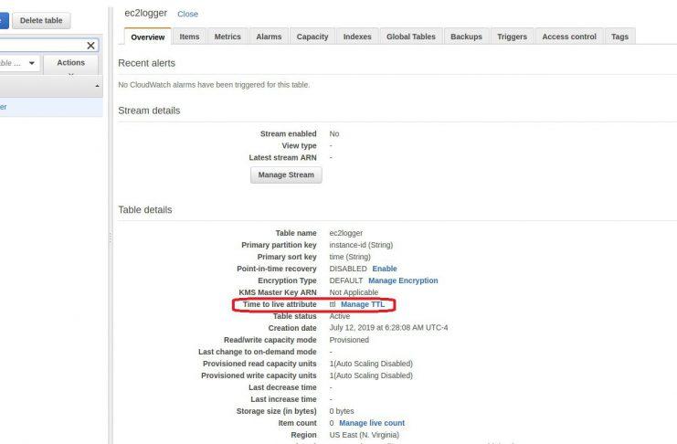 Setting DynamoDB TTL with Lambda Python - Technology Blog